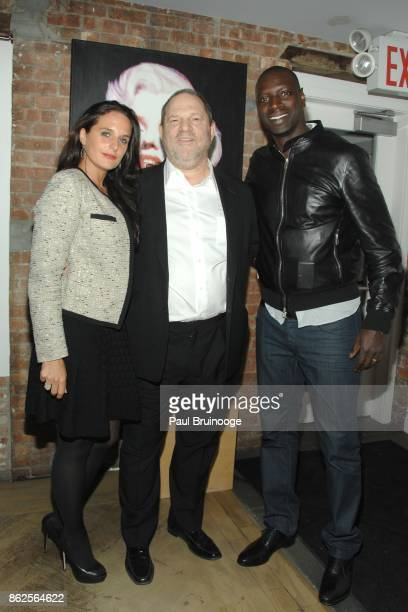 Helene Sy, Harvey Weinstein and Omar Sy attend NY Special Screening of THE INTOUCHABLES presented by Chopard and The Weinstein Company after party at...
