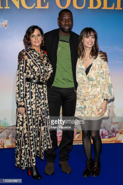 Helene Sy, Omar Sy and Berenice Bejo attend the 'Le Prince oublie' Premiere at Le Grand Rex on February 02, 2020 in Paris, France.
