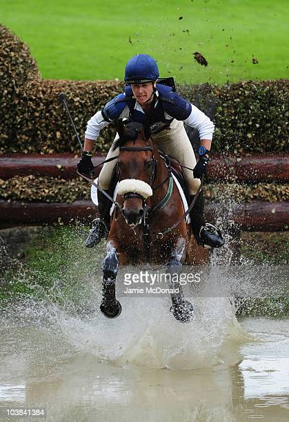 Helene Vattier of France rides Jubal during the Cross Country Event of the Burghley Horse Trials on September 4 2010 in Stamford England