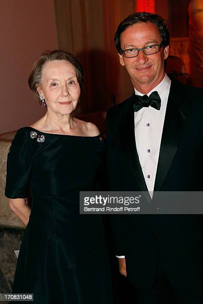 Helene Weil and Thaddeus Ropac attend 'Liaisons Au Louvre III' Charity Gala Dinner Hosted by American International Friends of Le Louvre at Cour...