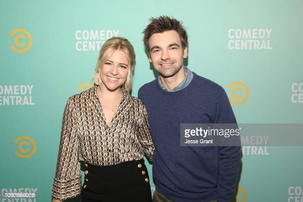 Helene Yorke and Drew Tarver attend the 2019 Comedy Central Press Day on January 11 2019 in Hollywood California