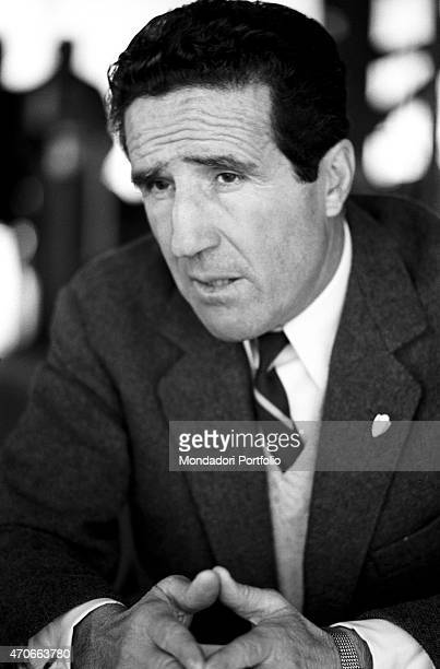 Helenio Herrera Argentinian but naturalized French football trainer now in the Inter team Milan 1966