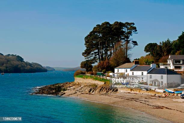 Helford passage on the Helford river near Falmouth in cornwall, England, Britain, .