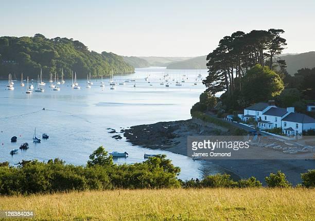 Helford River at Helford Passage. Cornwall. England. UK.