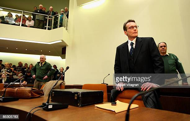 Helg Sgarbi is pictured prior to his trial at the country court on March 9, 2009 in Munich, Germany. Sgarbi has been charged with blackmailing a...