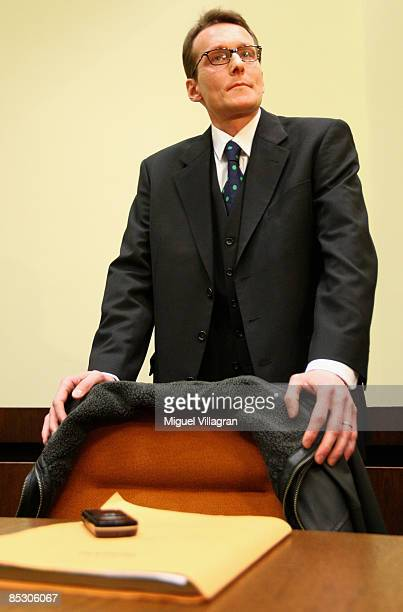 Helg Sgarbi is pictured prior to his trial at the country court on March 9 2009 in Munich Germany Sgarbi has been charged with blackmailing a string...