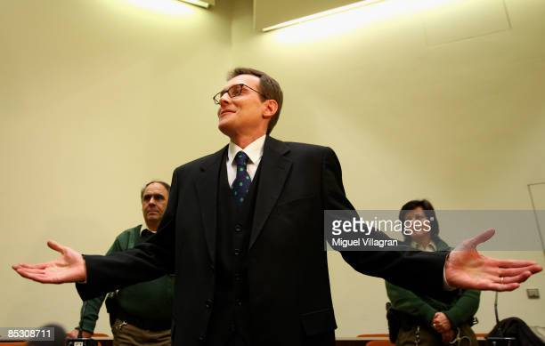 Helg Sgarbi reacts prior to his verdict at the country court on March 9 2009 in Munich GermanySgarbi has been charged with blackmailing a string of...