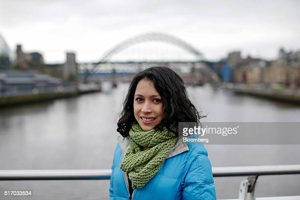 Helga Alvarez, co-founder of Leaf Music, poses for a photograph in Newcastle upon Tyne, U.K. On Tuesday, March 2016. Leaf Music, a startup based...