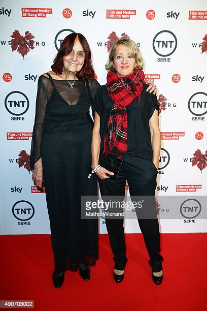 Helga Boettinger and Anna Boettcher attend TNT Serie's preview screening of 'Weinberg' at Residenz on September 30 2015 in Cologne Germany The...
