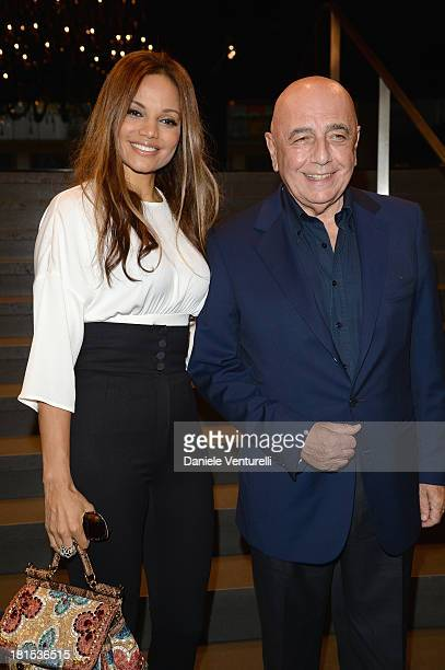 Helga Costa and Adriano Galliani arrive at the Dolce & Gabbana show as a part of Milan Fashion Week Womenswear Spring/Summer 2014 on September 22,...