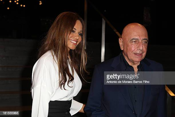 Helga Costa and Adriano Galliani arrives at the Dolce & Gabbana show as a part of Milan Fashion Week Womenswear Spring/Summer 2014 on September 22,...