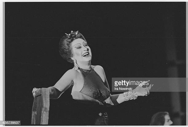 Helga Dernesch performs the role of Salome in the dress rehearsals for the San Francisco Opera's production of Salome. Composer: Richard Strauss.