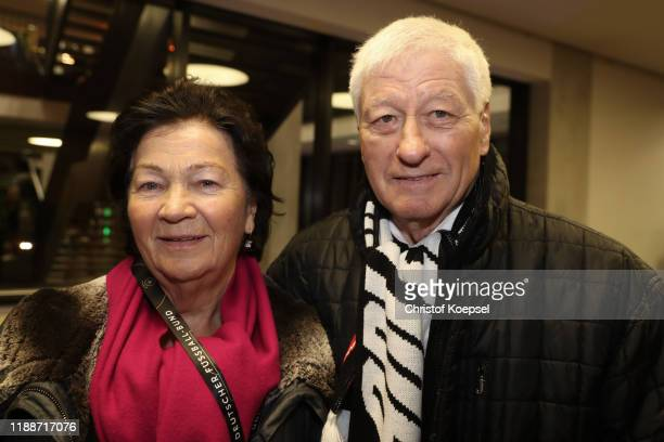 Helga Lutz mand Fridel Lutz attend the Club Of Former National Players Meeting at Commerzbank Arena on November 19, 2019 in Frankfurt am Main,...