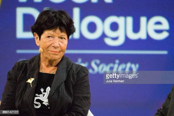 Helga Nowotny founding member of the European Research Council speaks at 'Nobel Week Dialogue the Future of Truth' conference at at Svenska Massan on...