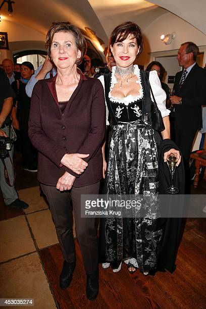 Helga RablStadler and Anja Kruse attend the Montblanc Young Directors Project at Salzburg Festival on July 31 2014 in Salzburg Austria