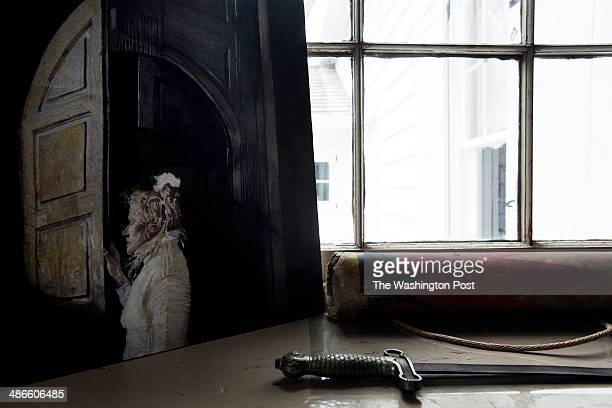 Helga Testorf appears in a replica of an Andrew Wyeth painting that rests on a window sill in his studio on April 7 in Chadds Ford PA Helga appeared...