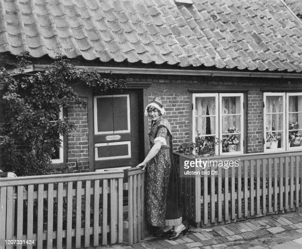 Helgoland woman wearing national costume undated Vintage property of ullstein bild 22