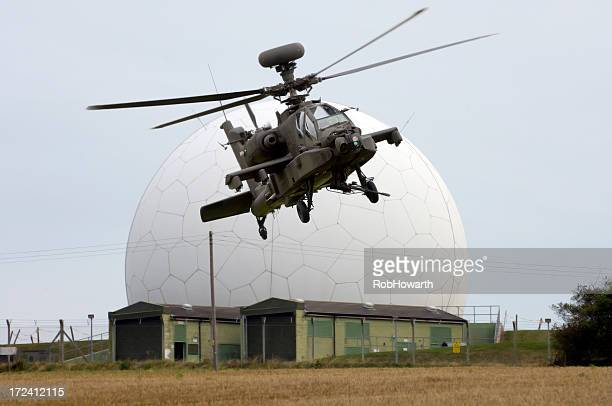 Helicopter and Radar dome
