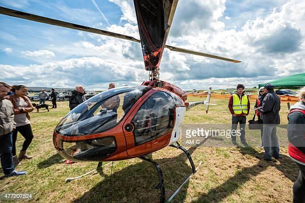 elicottero coax 2d, germania - aereo ultraleggero foto e immagini stock