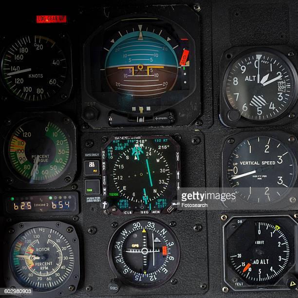 Helicopter cockpit instrument panel