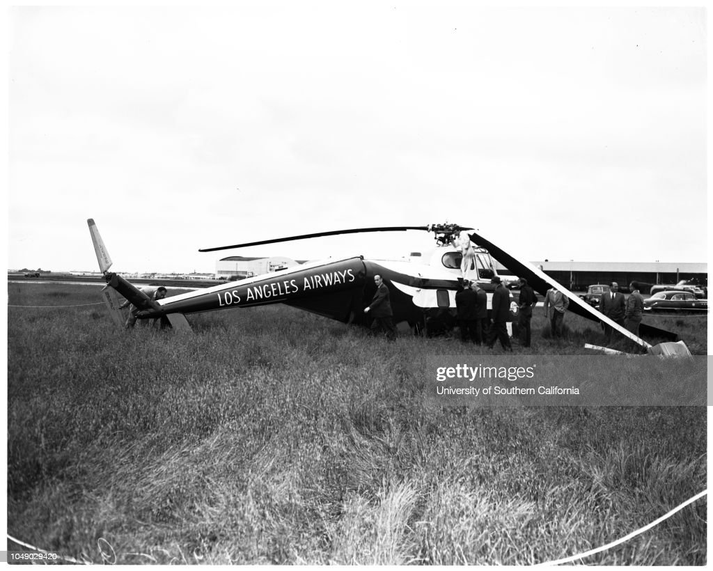 Helicopter Crash At Los Angeles International Airport 9 April 1952 News Photo Getty Images