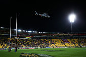 wellington new zealand helicopter delivers match