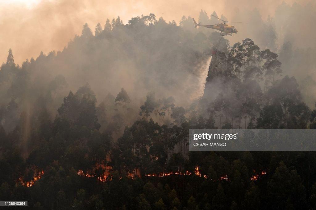 TOPSHOT-SPAIN-FIRE : News Photo