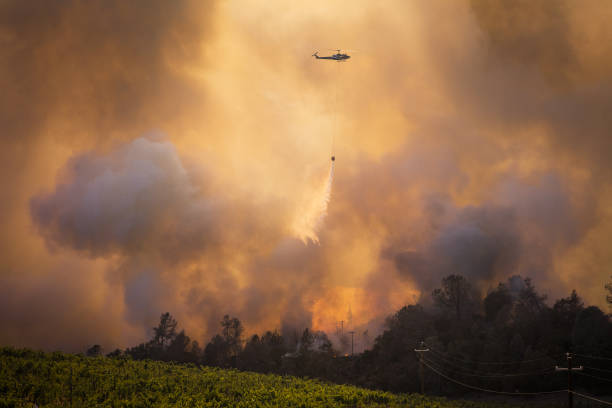 CA: Firefighters Battle The Glass Fire In Napa County
