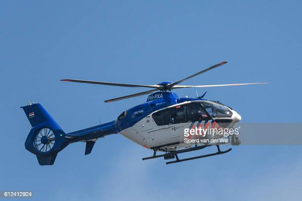helicopter eurocopter - ec135 of the dutch police aviation service - helicopter photos stock pictures, royalty-free photos & images