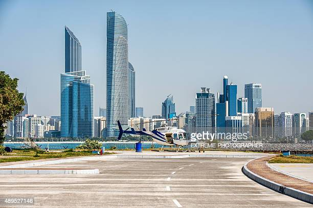 Helicopter in Abu Dhabi