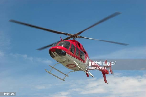 En vuelo en helicóptero