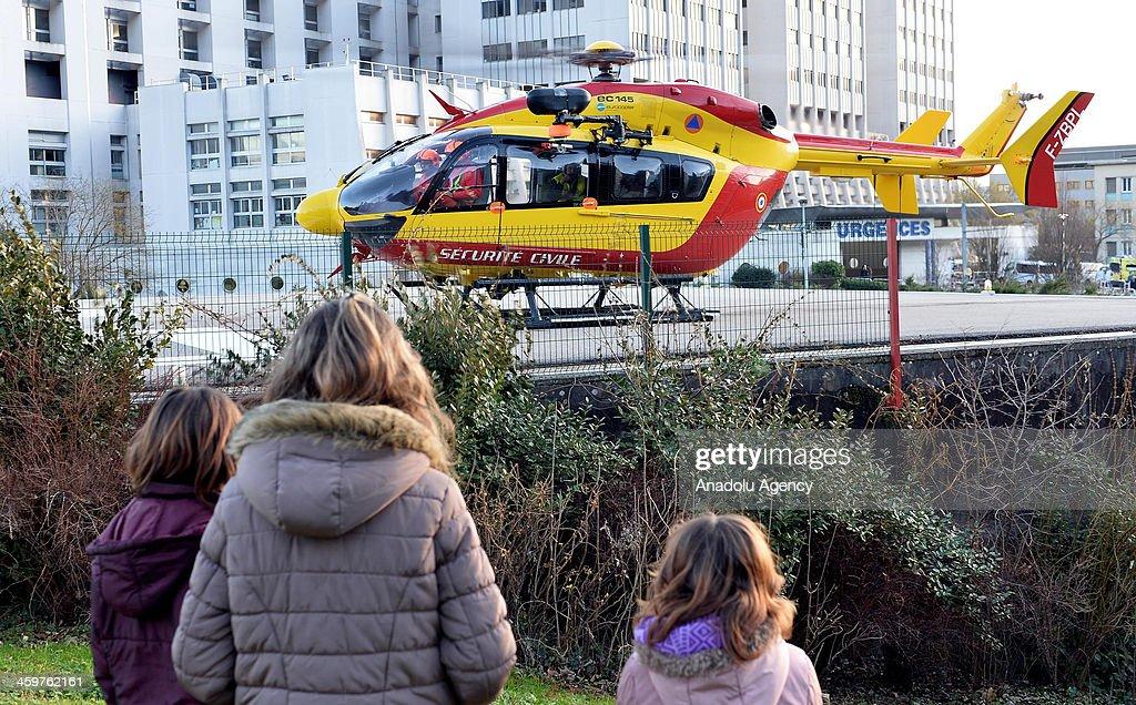 Schumacher in critical condition : News Photo