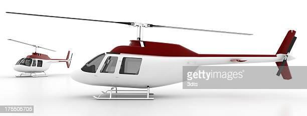 ヘリコプター白で分離