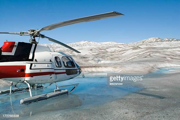 Helicopter on Alaska Glacier