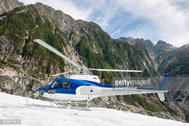 Helicopter on Franz Josef Glacier the Southern Alps, New Zealand