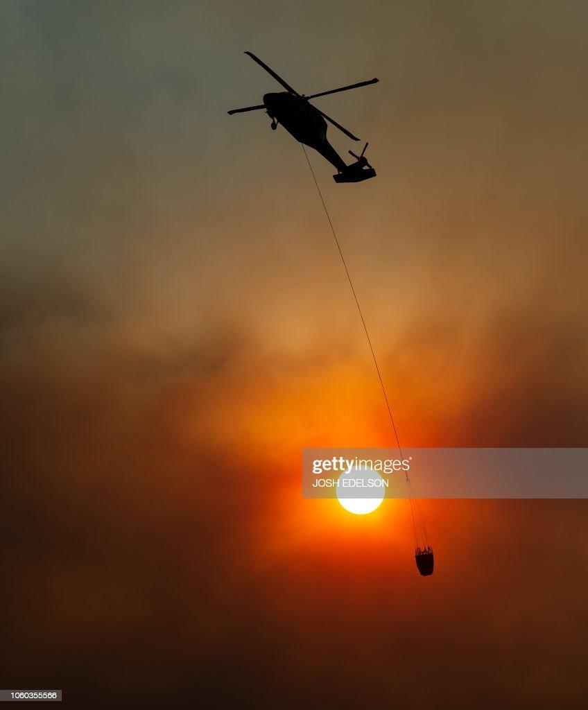 US-FIRE-CALIFORNIA-CAMP FIRE : News Photo