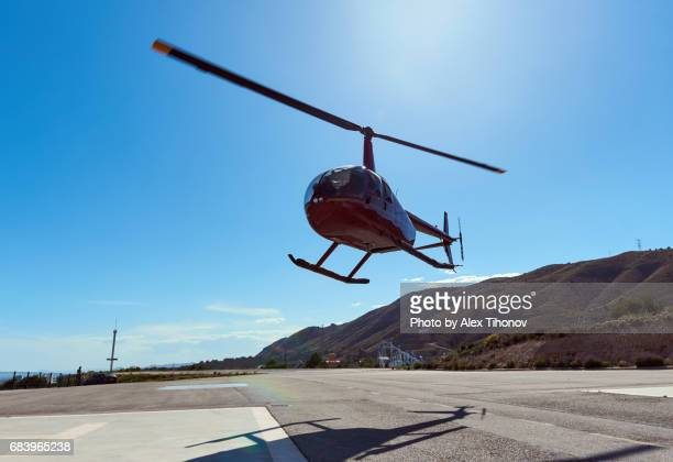 helicopter - helipad stock photos and pictures