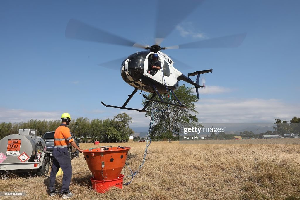 Forest Fires Continue To Burn Across Tasman District Near Nelson : News Photo