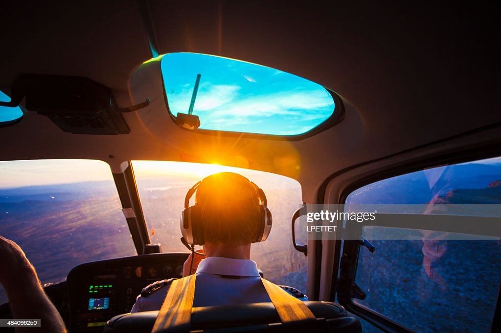 Helicopter Pilot : Stock Photo