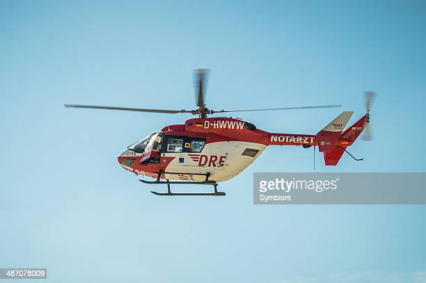 helicopter rescue mission on the beach - medevac stock photos and pictures