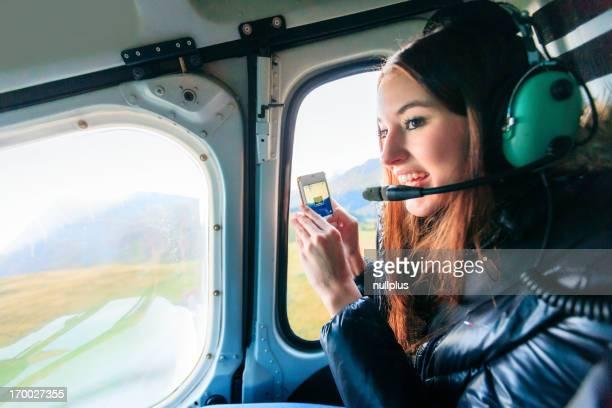 Mit dem Hubschrauber