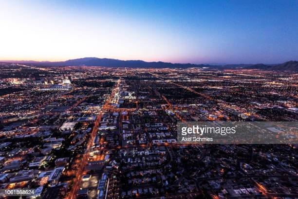 Helicopter view on Las Vegas