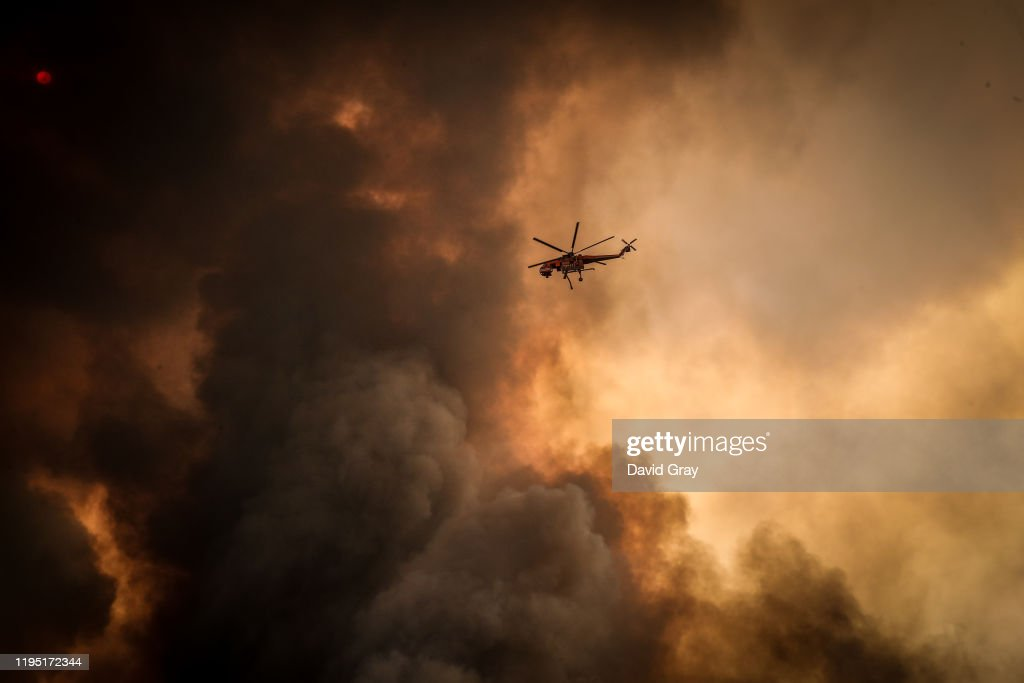 Firefighters Continue To Battle Bushfires As Catastrophic Fire Danger Warning Is Issued In NSW : News Photo