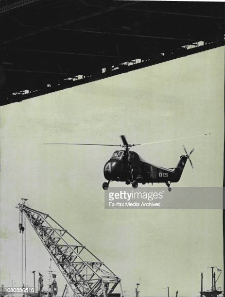 Helicopters from the French aircraft carrier Jeanne D'Arc flew under the Sydney Harbor Bridge todayThe flyunder took place after the carrier and the...