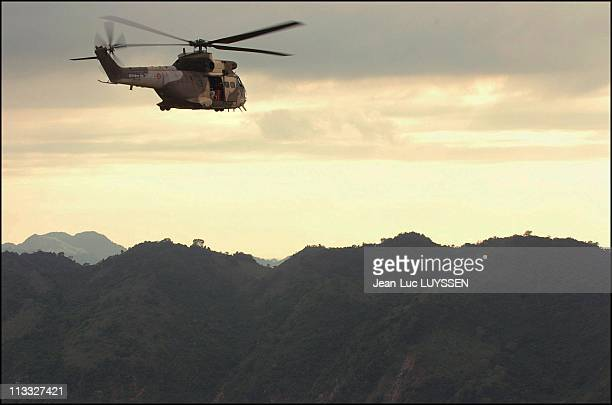 Helicopters Of French Carrier 'La Jeanne D'Arc' Delivering Relief Aid And Medicine To Emergency Hospital In Meulaboh Indonesia On January 15Th 2005...