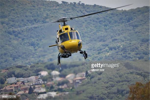 Helikopter, formula 1 GP, Spanien in Barcelona