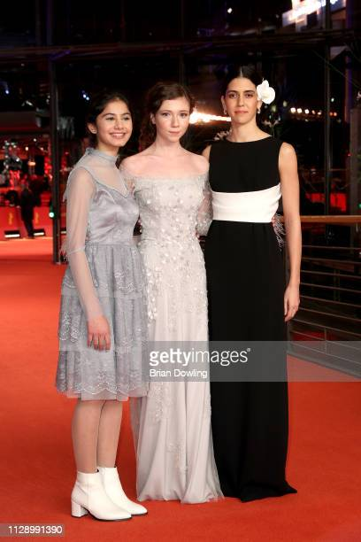 Helin Kandemir Ece Yüksel and Cemre Ebüzziya pose at the A Tale Of Three Sisters premiere during the 69th Berlinale International Film Festival...