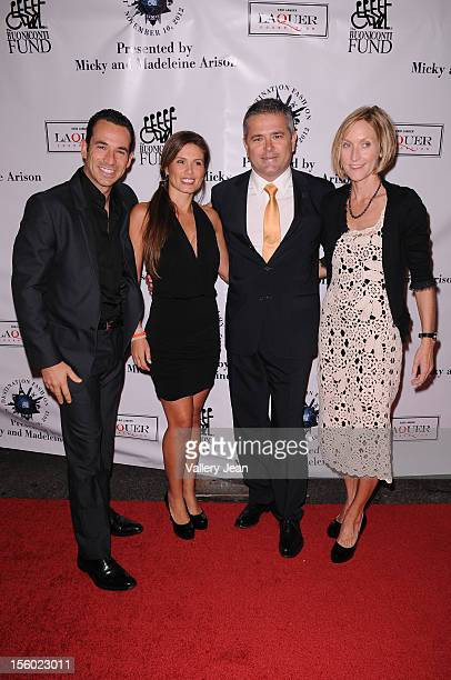 Helio Castroneves Adriana Henao and Gil De Ferran attend Buoniconti Fund to Cure Paralysis' Destination Fashion 2012 at Bal Harbour Shops on November...