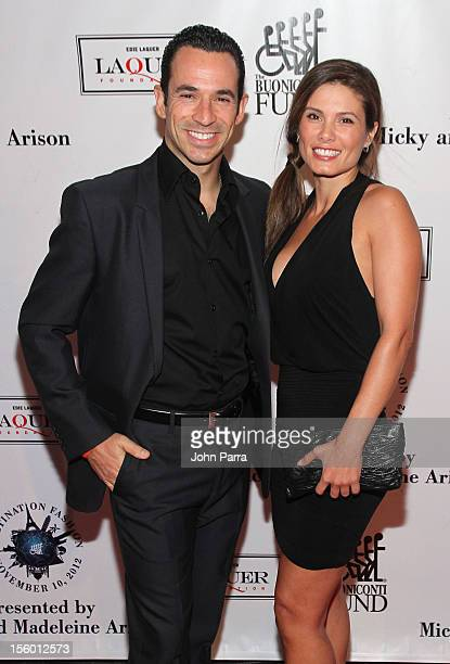 Helio Castroneves and Adriana Henao attend Destination Fashion 2012 To Benefit The Buoniconti Fund To Cure Paralysis the fundraising arm of The Miami...