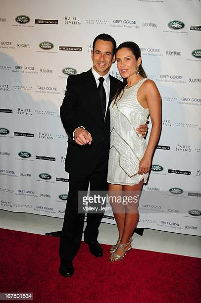 Helio Castroneves and Adriana Henao attend The Blacks' Annual Gala 2013 at Fontainebleau Miami Beach on April 13 2013 in Miami Beach Florida